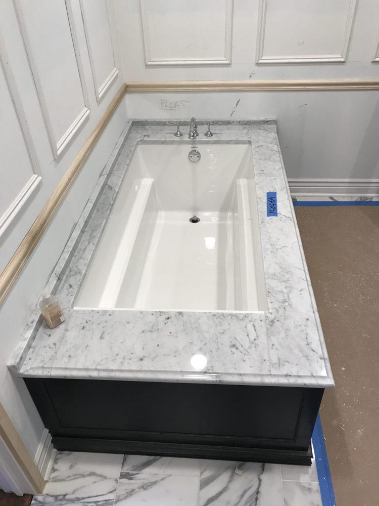 White Carera Undermount Tub Deck - Yelp