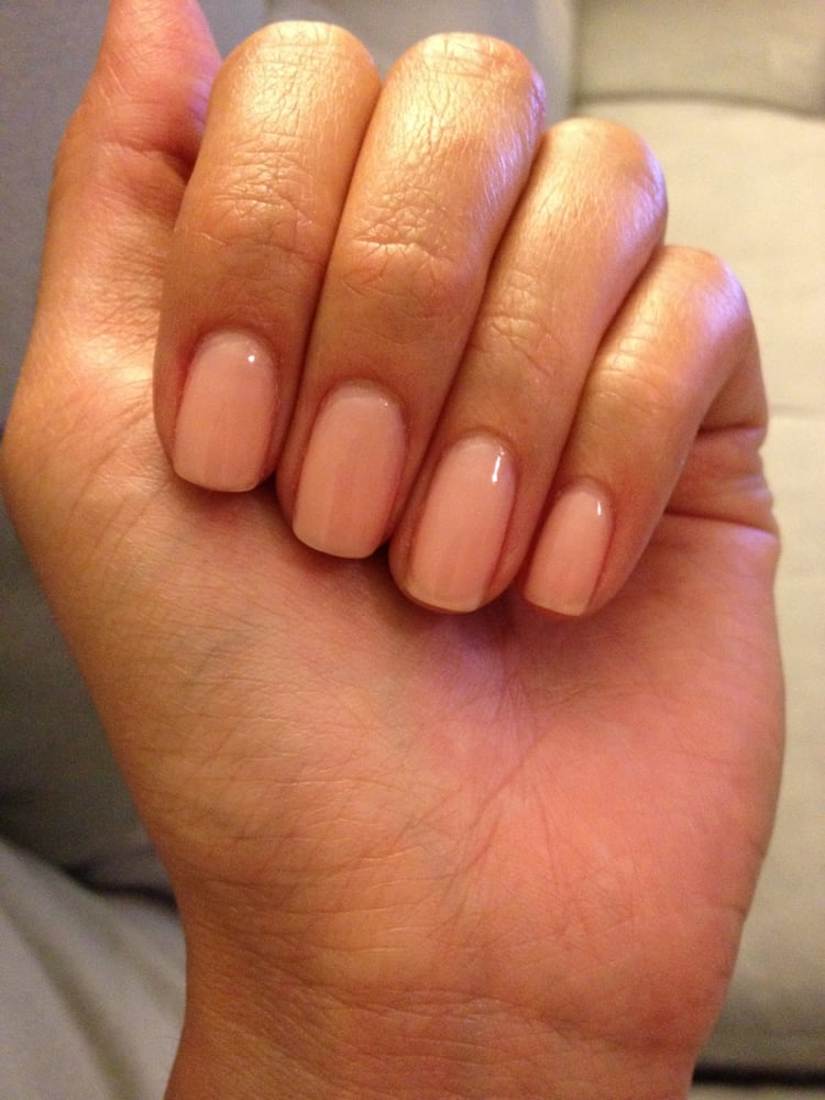 Shaped perfectly and well trimmed cuticles. I chose a sheer color so ...