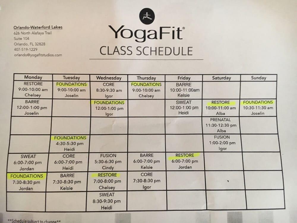 YogaFit Studios: 626 North Alafaya Trl, Orlando, FL