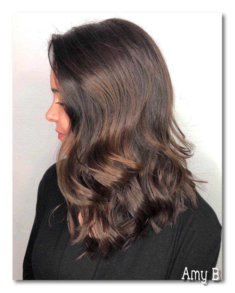 Long Bob Haircut Hair Coloring Full Highlights Yelp