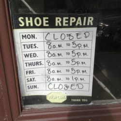 Wayland Square Shoe Repair Hours