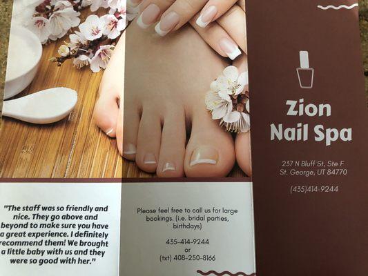 Zion Nails & Spa 237 N Bluff St Saint George, UT Manicurists