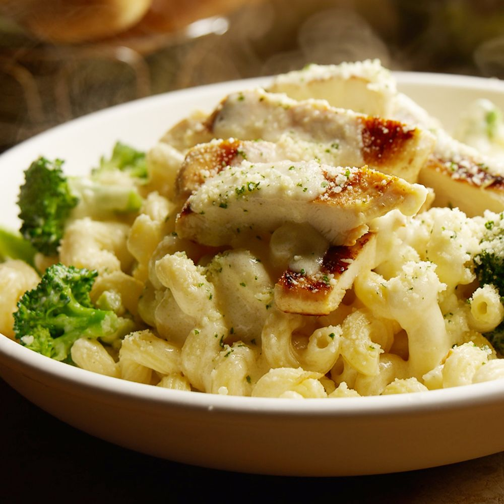 Our Chicken Con Broccoli is back! Grilled chicken and cavatappi ...
