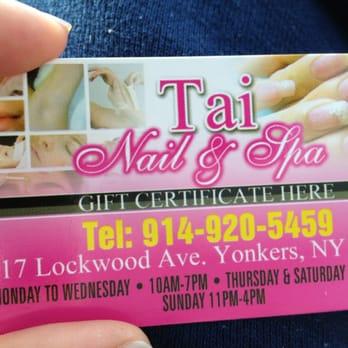 Tai nails spa 35 photos 12 reviews nail salons 17 lockwood photo of tai nails spa yonkers ny united states business card reheart Choice Image