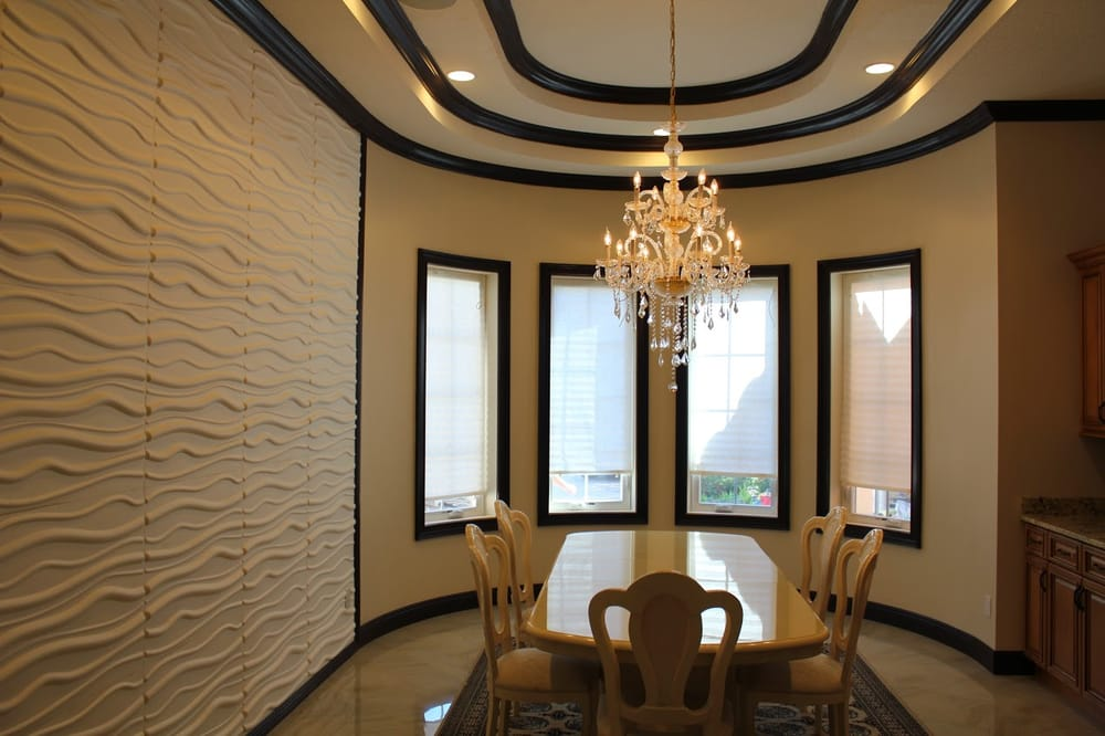 Room, Dining Room, Wall, 3D Waiving Wall Design, Round ...