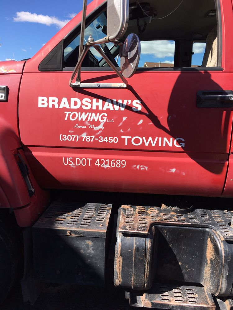 Bradshaw's Glass & Towing: 129 E Clark St, Lyman, WY