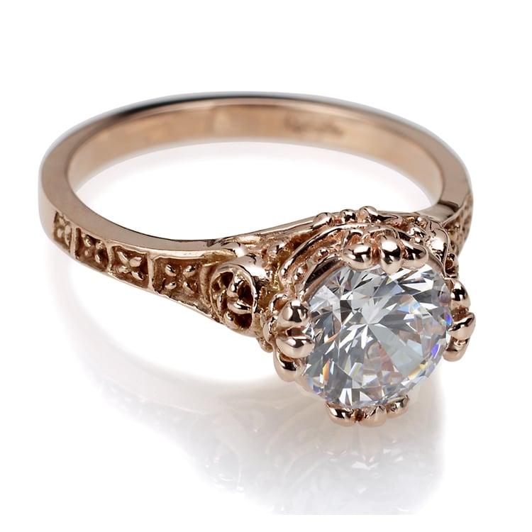 Engagement Rings York: Gothic Engagement Ring. Custom Jewelry Designs
