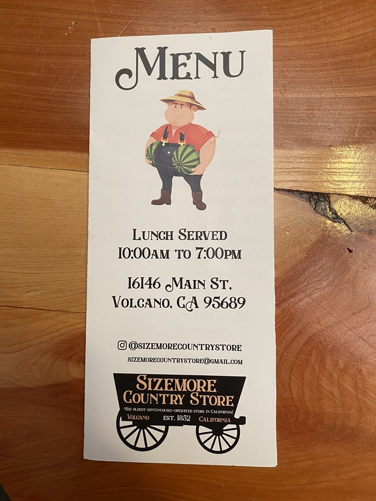 Sizemore's Country Store and Restaurant: 16146 Main St, Volcano, CA
