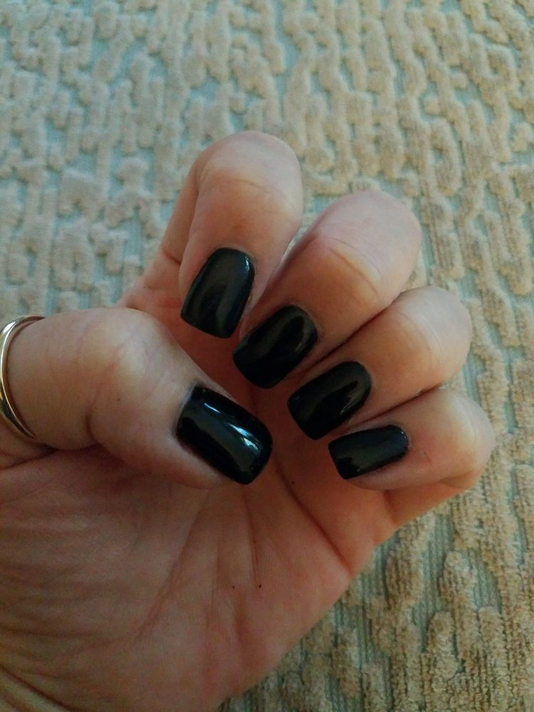 Great dip powder mani. Black can be tricky. Perfect shape! - Yelp