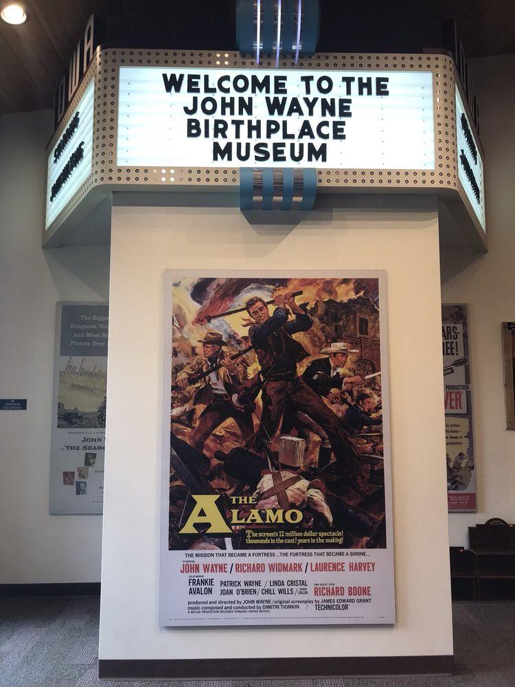 John Wayne Birthplace & Museum: 205 S John Wayne Dr, Winterset, IA