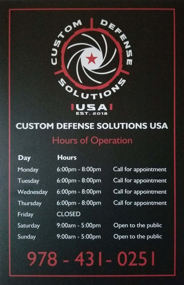 Custom Defense Solutions USA: 410 Great Road, Littleton, MA