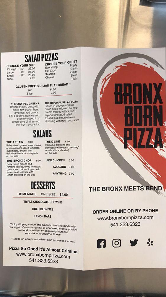 Bronx Born Pizza: 1005 NW Galveston, Bend, OR