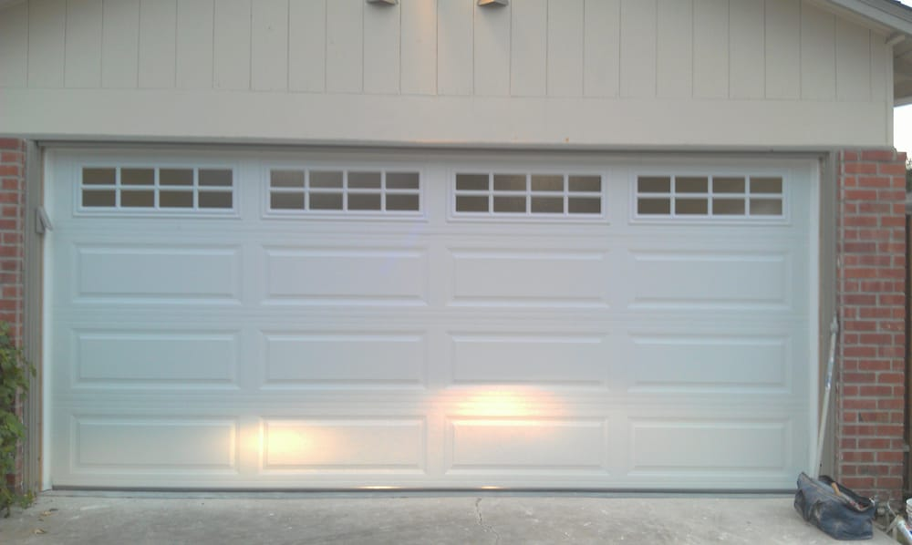 Insulated Two Car Garage Door With Stockton Window Design Yelp