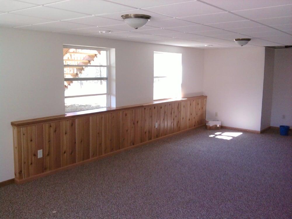 Cedar Wall Paneling : Cedar paneling knee wall on basement remodel yelp