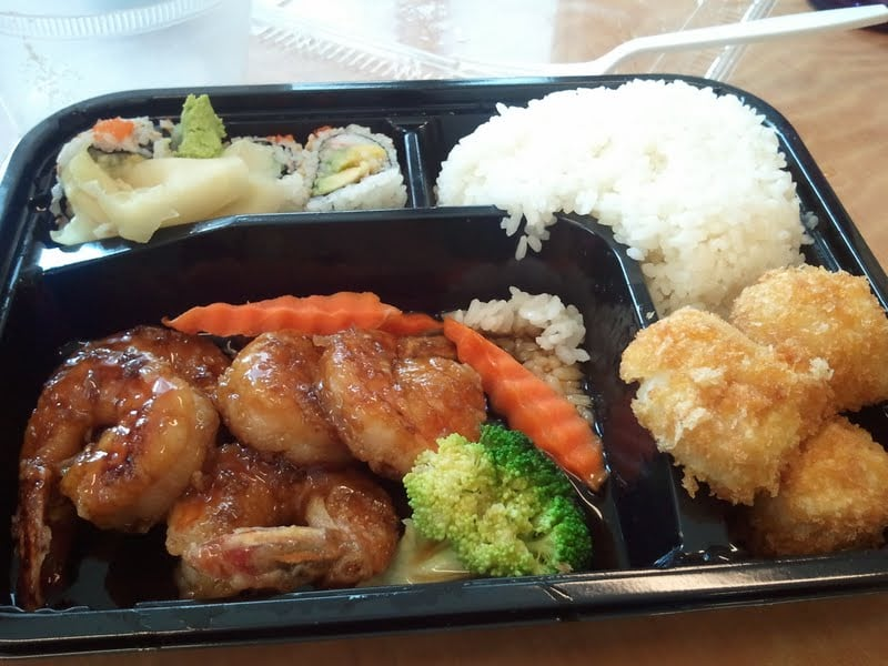 shrimp teriyaki from takeout lunch bento box special yelp. Black Bedroom Furniture Sets. Home Design Ideas