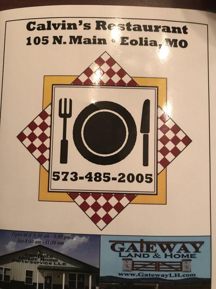 Calvin's Restaurant: 105 N Main St, Eolia, MO