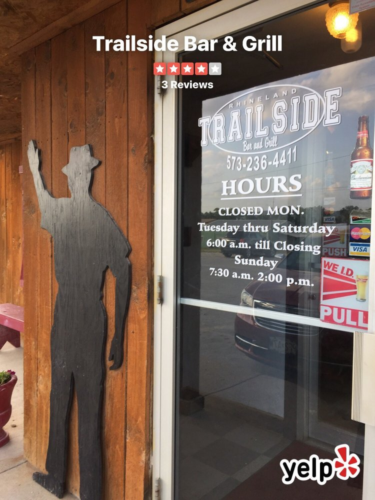 Trailside Bar & Grill: 111 Bluff St, Rhineland, MO
