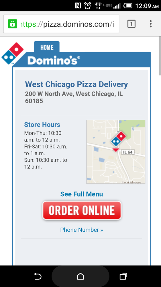 Dominos Pizza 21 Reviews Chicken Wings 200 W North Ave West