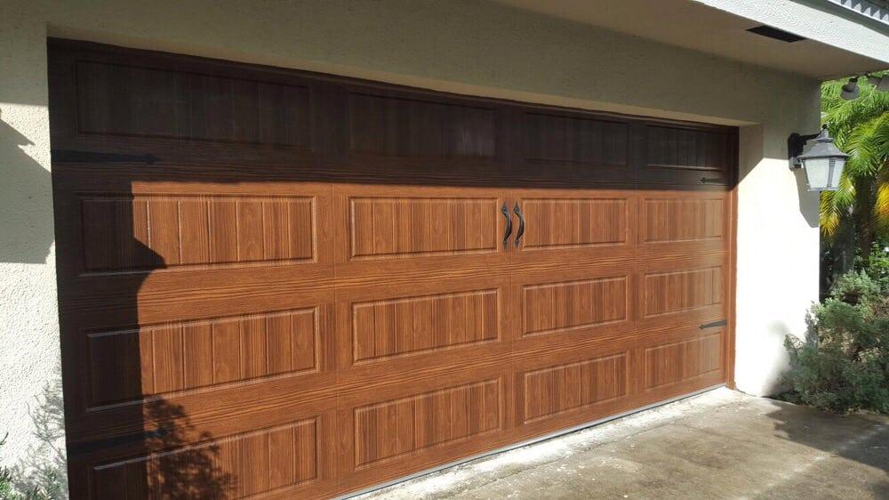 Double garage door 16x7 walnut wilton manors fl yelp for 16 x7 garage door