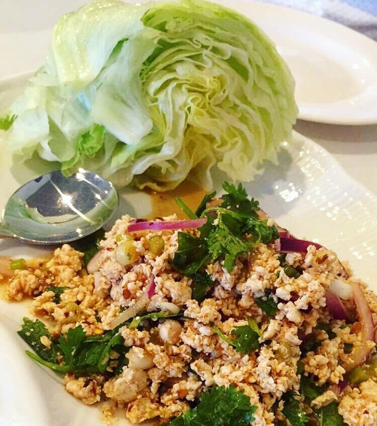 Chicken larb lettuce wraps - Yelp
