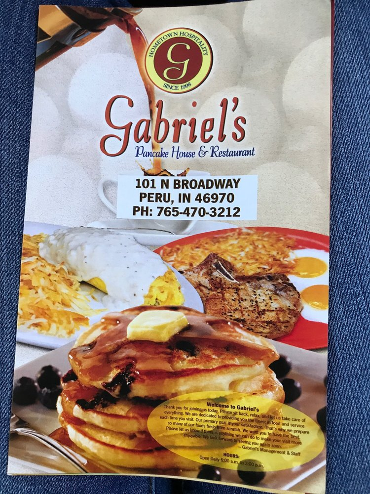 Gabriel's Pancake House: 101 N Broadway, Peru, IN