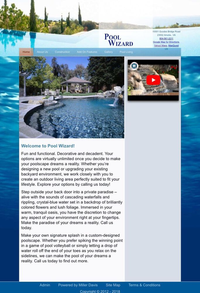 Pool Wizard: 15501 Goodes Bridge Rd, Amelia Court House, VA