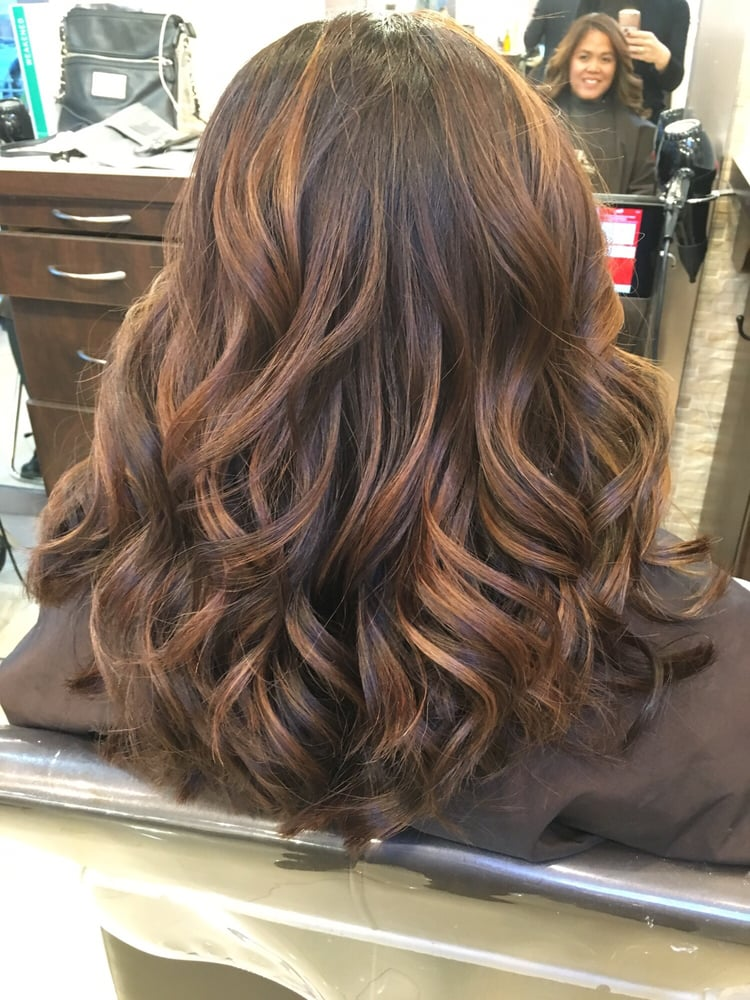 I love my hair gorgeous balayage thank you nora yelp for Aaron emanuel salon