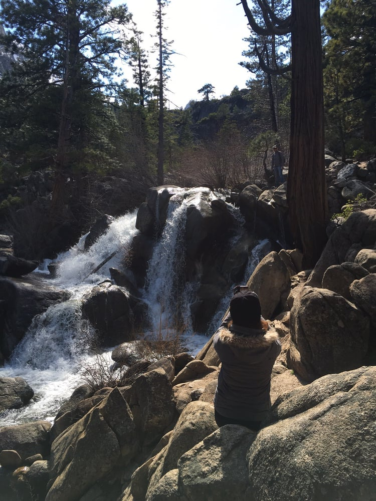Photo of Grover Hot Springs - Markleeville, CA, United States. The waterfall hike that saved our hot spring outing.