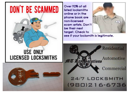 MT Key Solutions Certified & NC Licensed Locksmith # 1671: 700 S Deal St, Landis, NC