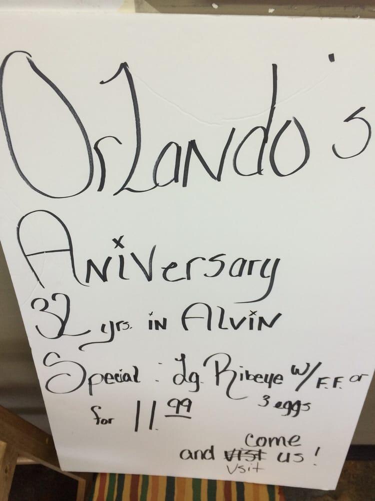 Orlandos Cafe: 1400 S Gordon St, Alvin, TX