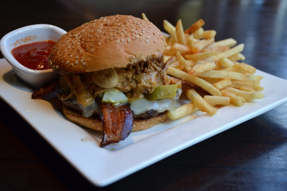 Bruce Lee burger from Ginger Hop (angus patty with pickles, pulled