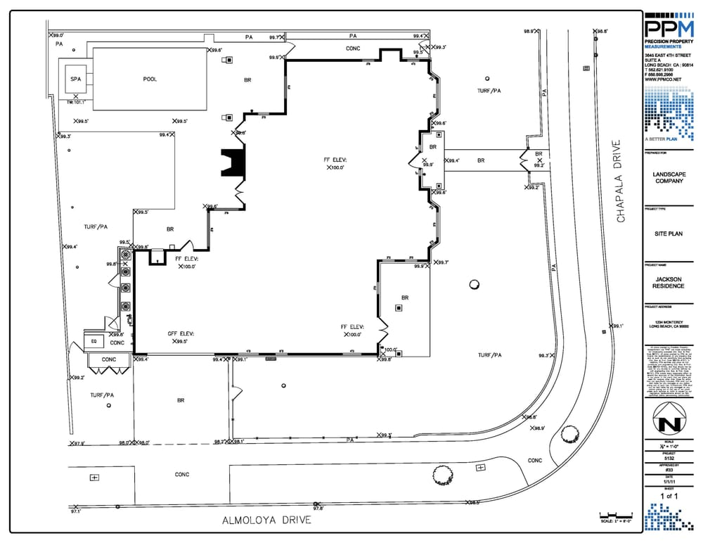 Residential site plan with spot elevations yelp for Residential site plan