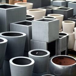 Photo of Dulwich Pot & Plant Garden - London, United Kingdom. Polystone pots &