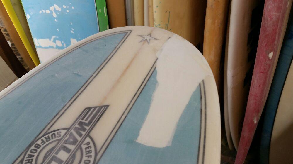 Walden nose repair   Polyester long board ding repair  I