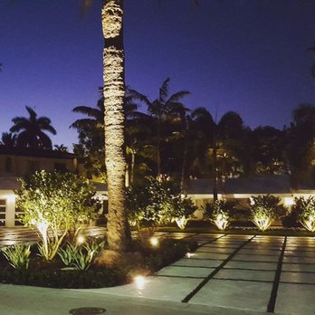 Sunset Island Miami Beach Led Landscape And Driveway