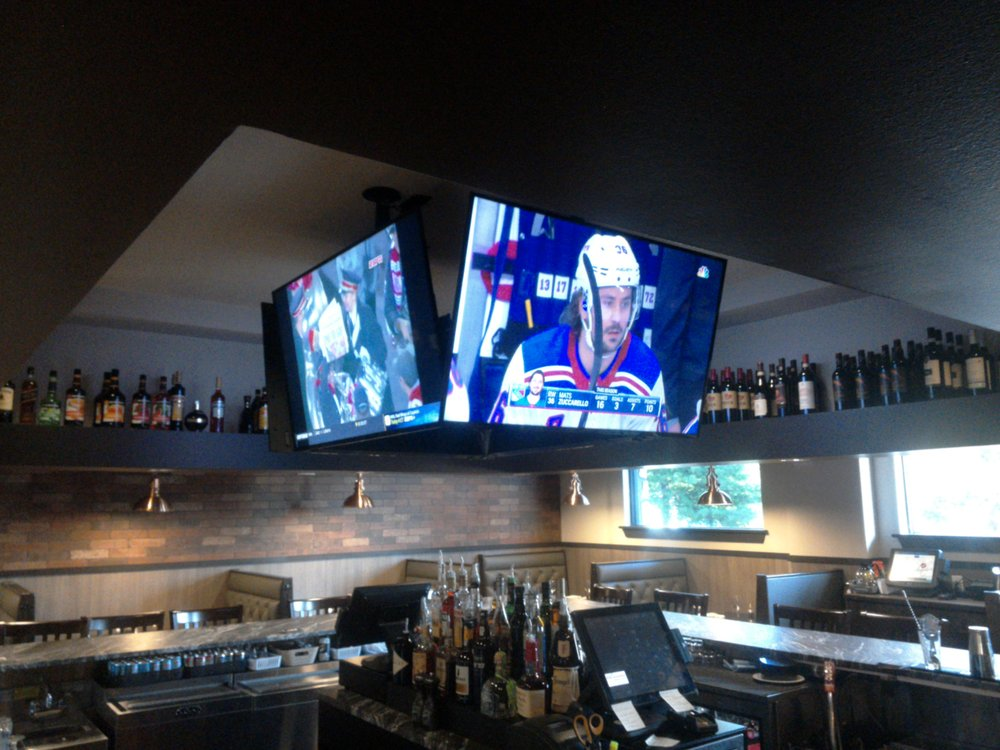 Restaurant Bar Area Stadium TV Setup - Yelp