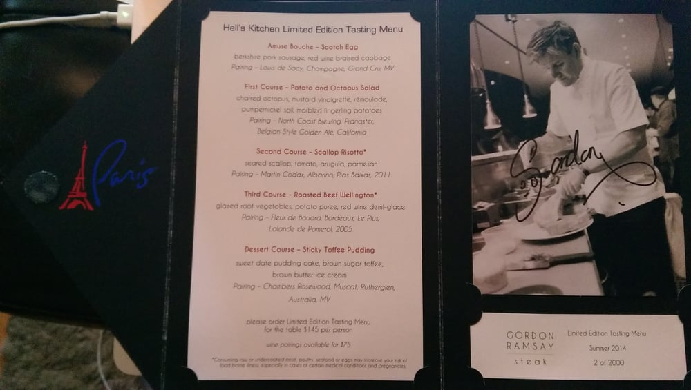 photo of gordon ramsay steak las vegas nv united states the hells - Hells Kitchen Menu
