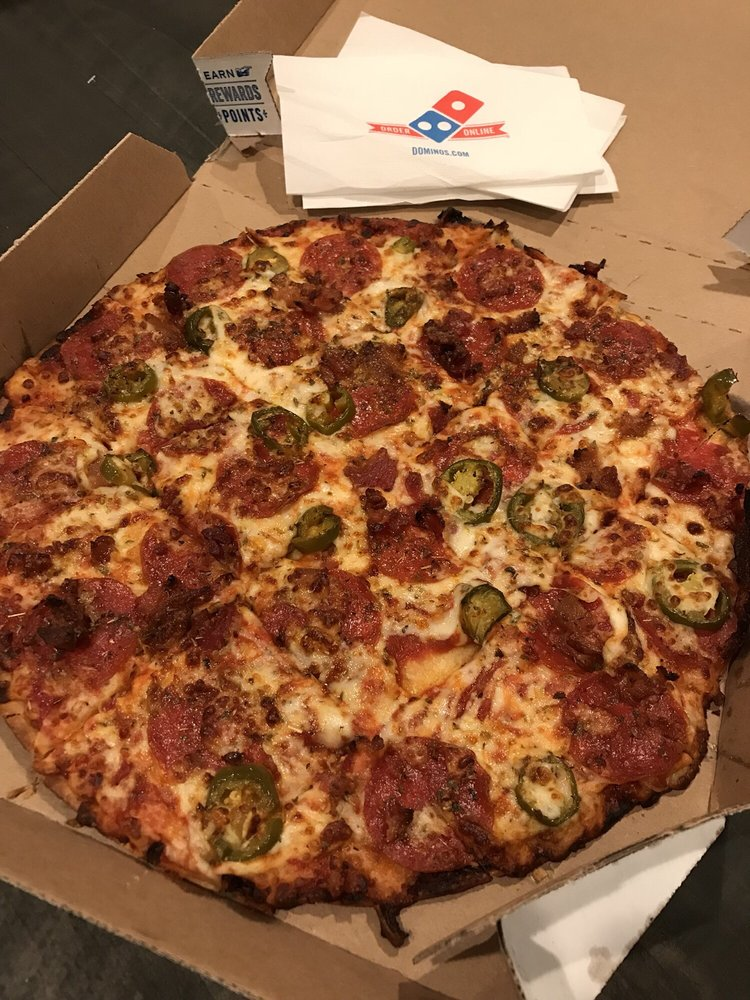 Medium 12 Thin Crust Pizza With Pepperoni Bacon And Jalapenos