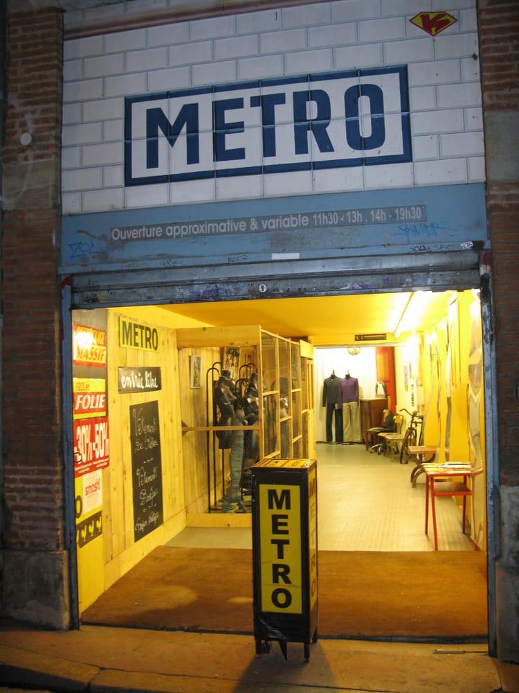 Metro friperies v tements vintage et d p ts vente 2 rue boyer fonfr de daurade toulouse - Depot vente meuble toulouse ...
