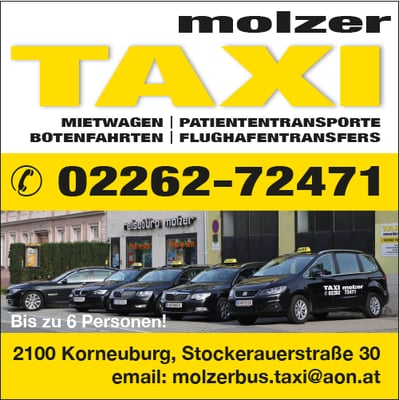 taxi molzer taxi stockerauerstr 30 korneuburg nieder sterreich telefonnummer yelp. Black Bedroom Furniture Sets. Home Design Ideas