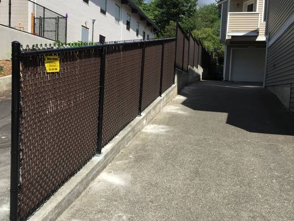 chain link fence slats brown. Fine Fence Photo Of Above U0026 Beyond Fencing  Woodinville WA United States BLACK  CHAIN To Chain Link Fence Slats Brown I