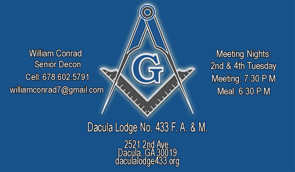 Dacula Masonic Lodge #433: 2521 2nd Ave, Dacula, GA