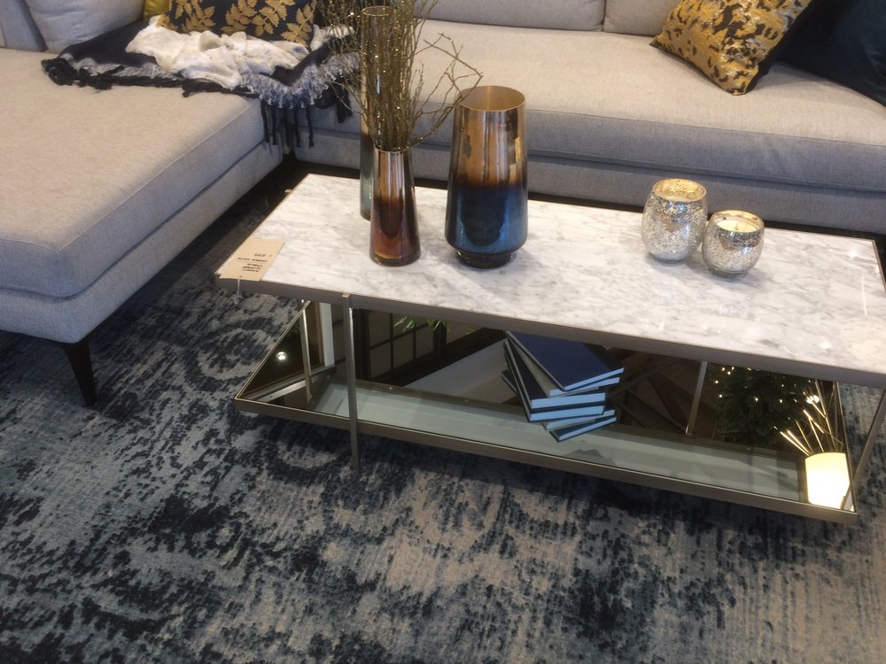 Avery Coffee Table Marble On Top Mirror On Bottom Elegant Legs - West elm avery coffee table
