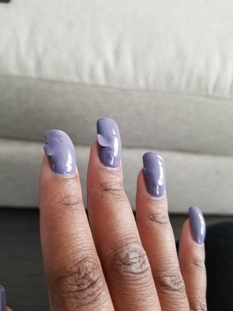 Nail polish is falling off, one day after getting a fill in - Yelp