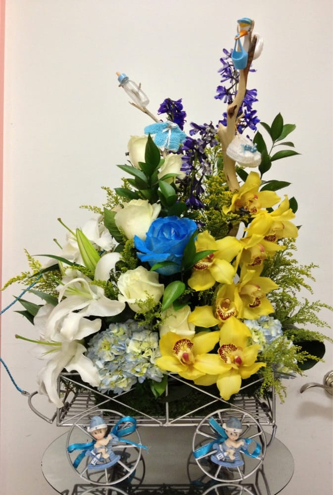 IT\'S A BOY exotic flower Bouquet! EPIC work as always done by the ...
