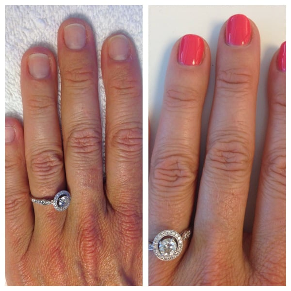 Photo Of Nancy S Nails Redwood City Ca United States Left Pic Is
