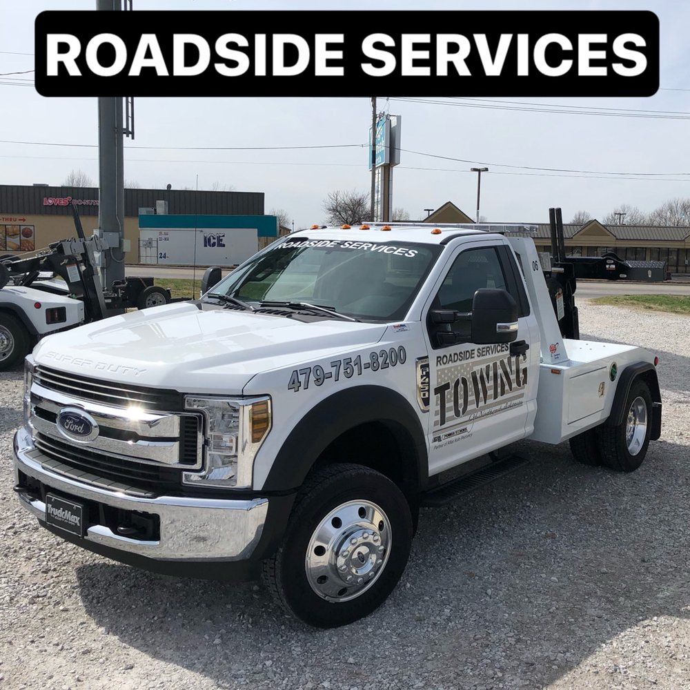 Roadside Services Towing of NWA: 111E E Linden St, Rogers, AR