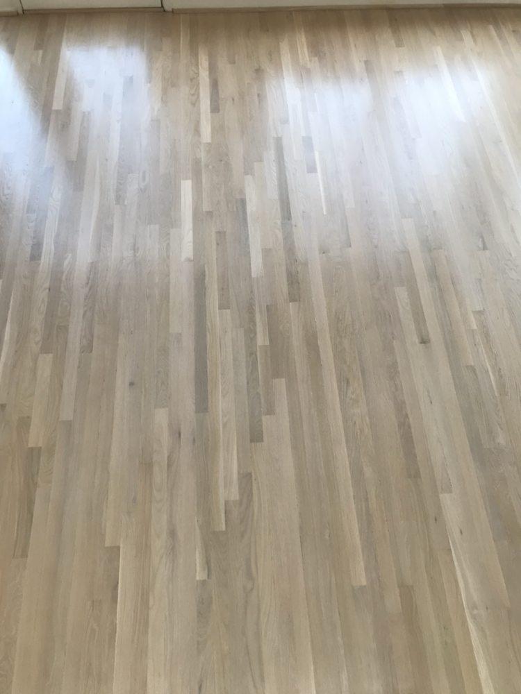White Bona Stain Over White Floor Natural Sealer Satin Finish Yelp