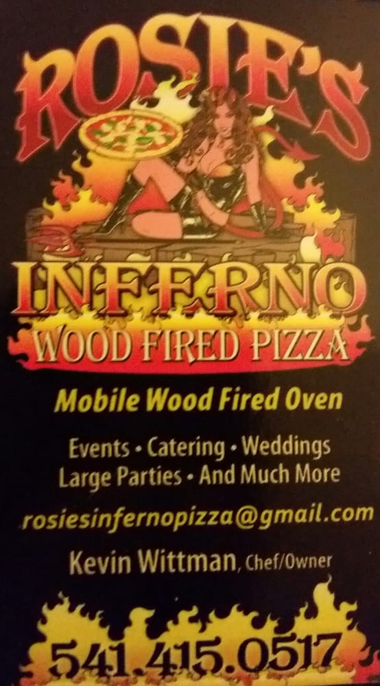 Rosie's Inferno Wood Fired Pizza: 603 Rogue River Hwy, Grants Pass, OR
