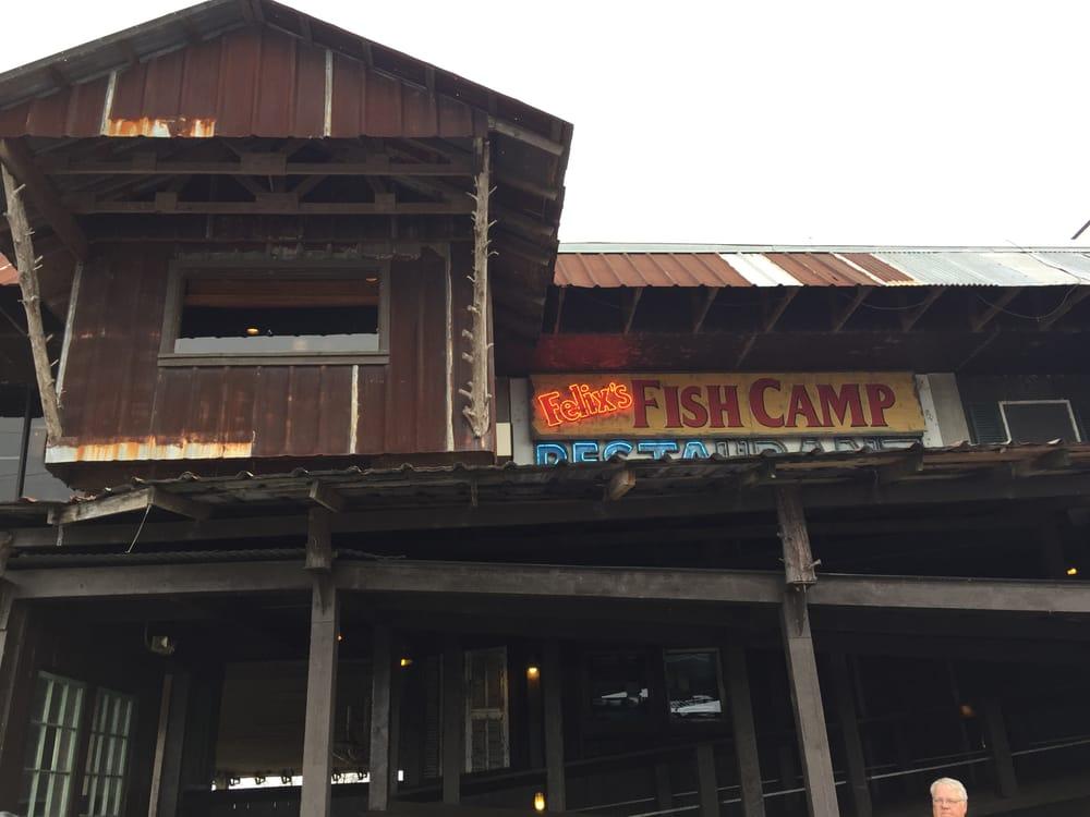 Interesting exterior yelp for Felix s fish camp restaurant